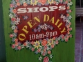 painted signage - Shops Open Daily 10am-9pm