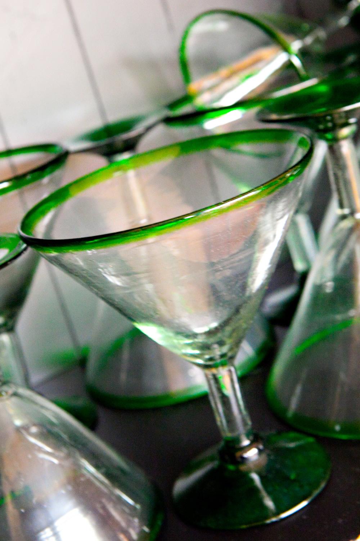 Margarita Glass Green