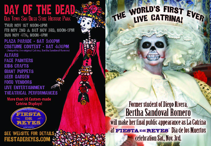 Day of the Dead advertisements. Bertha Sandoval to Headline Day of the Dead.